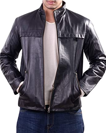 7bc87863d LeatherJacket4 Polson Zip Through Smooth Goat Men's Leather Jacket ...