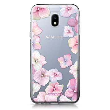 CASEiLIKE® Funda Samsung J3 2017, Carcasa Samsung Galaxy J3 (2017), Hortensia 2257, TPU Gel Silicone Protectora Cover