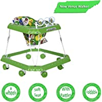 Dash Venus Baby Walker with Cushioned Seat and Rattles (Green)