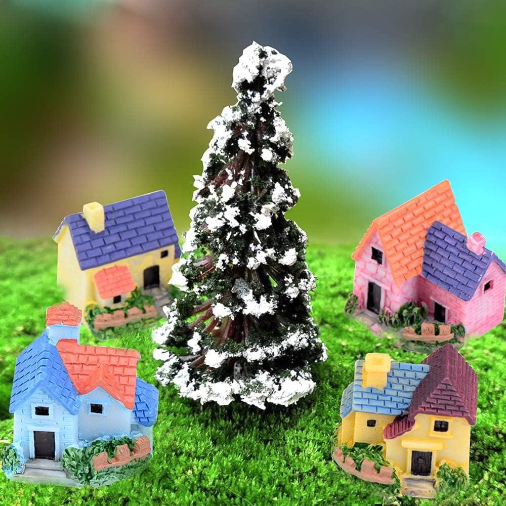 Bambole e Accessori Vaso Fiori Giardino Decorazione Casa Miniatura Bianco