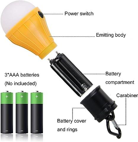 Luz de Trabajo Exterior para Emergencias Farol C/ámping Resistente al Agua 3-in-1 Camping Lantern Portable Outdoor LED Flame Lantern Flashlights Zooart L/ámpara Camping LED Plegable