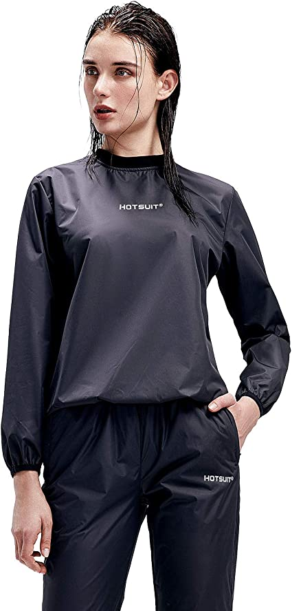 Junlan Sauna Suit for Women Sweat Sauna Jacket Gym Workout Sweat Pants Workout Suits for Women