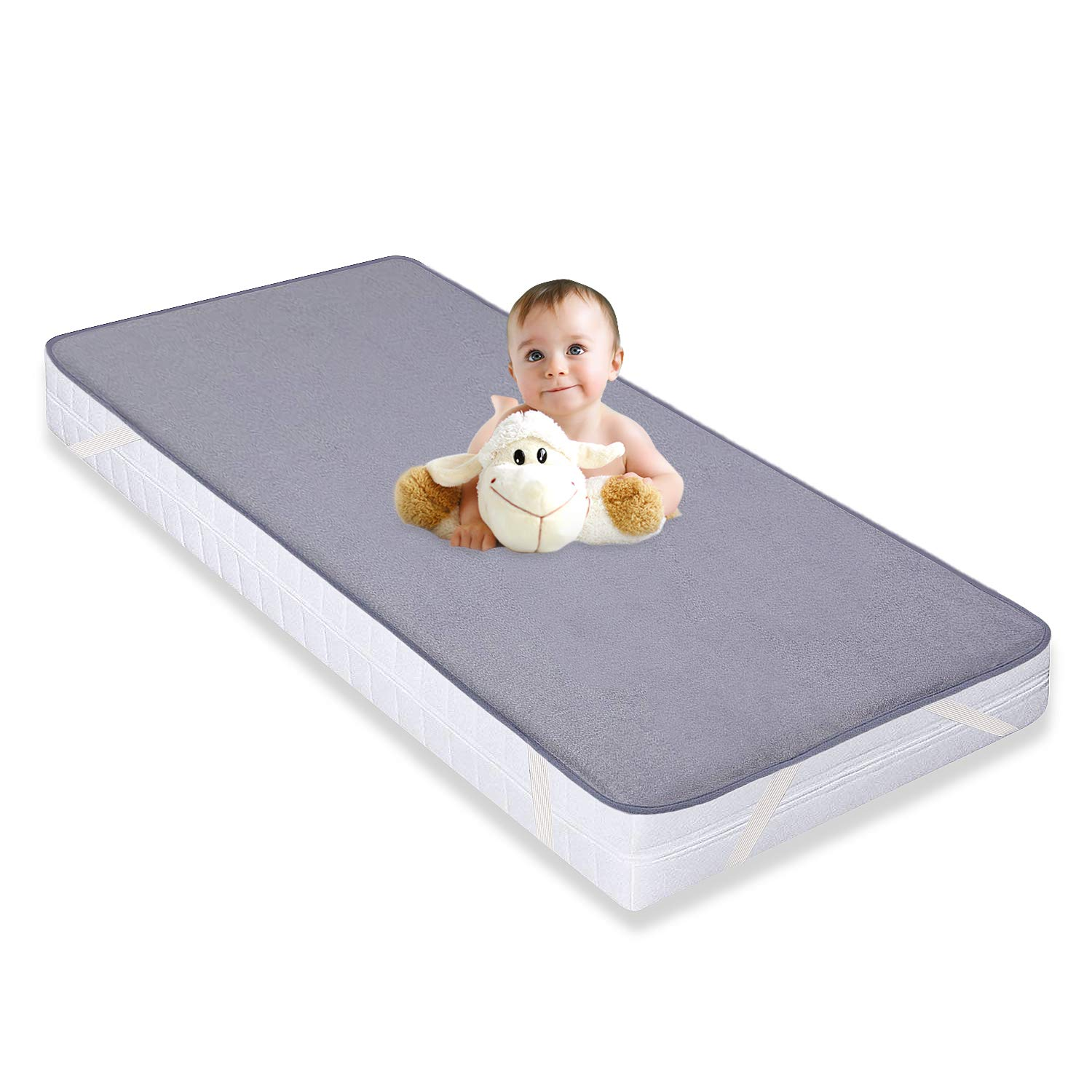 free shipping a4c49 05ee4 Waterproof Mattress Protector Cot Bed Mattress Cover Fitted Bamboo Crib  Sheet 70x140cm for Baby Toddler by YOOFOSS
