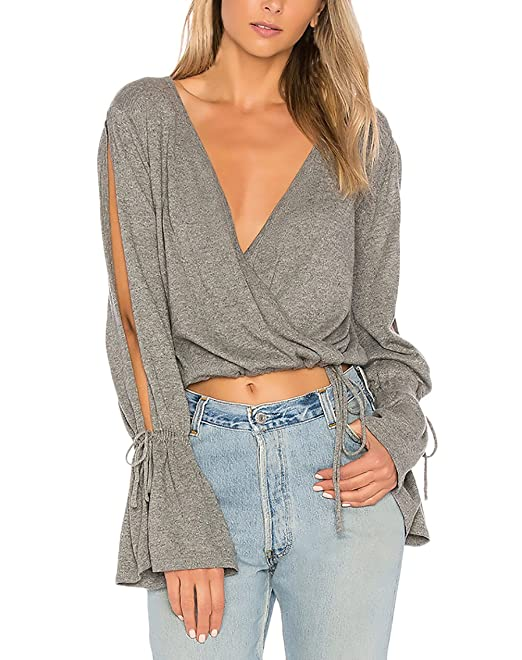 ... Elegantes Vintage Fashion Casual Sencillos Color Solido Corto Crop Tops Blusa Camisetas T-Shirts Top Basicas Modernas: Amazon.es: Ropa y accesorios