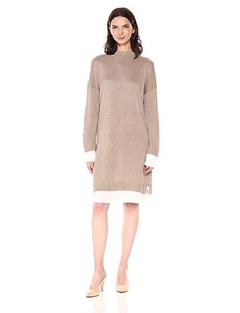 a7f2b6a78e1 Calvin Klein Women s Sweater Dress with Shirting at Amazon Women s ...