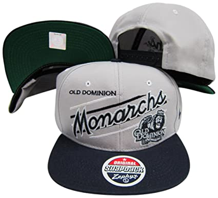 03b2caff47916 Amazon.com  Old Dominion Monarchs Adjustable Snapback Hat Cap Grey ...