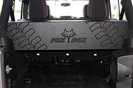 amazon com fox acoustics jeep wrangler jk unlimited 4 door dual 12 rh amazon com 2015 jeep wrangler unlimited subwoofer box jeep wrangler unlimited subwoofer box under seat