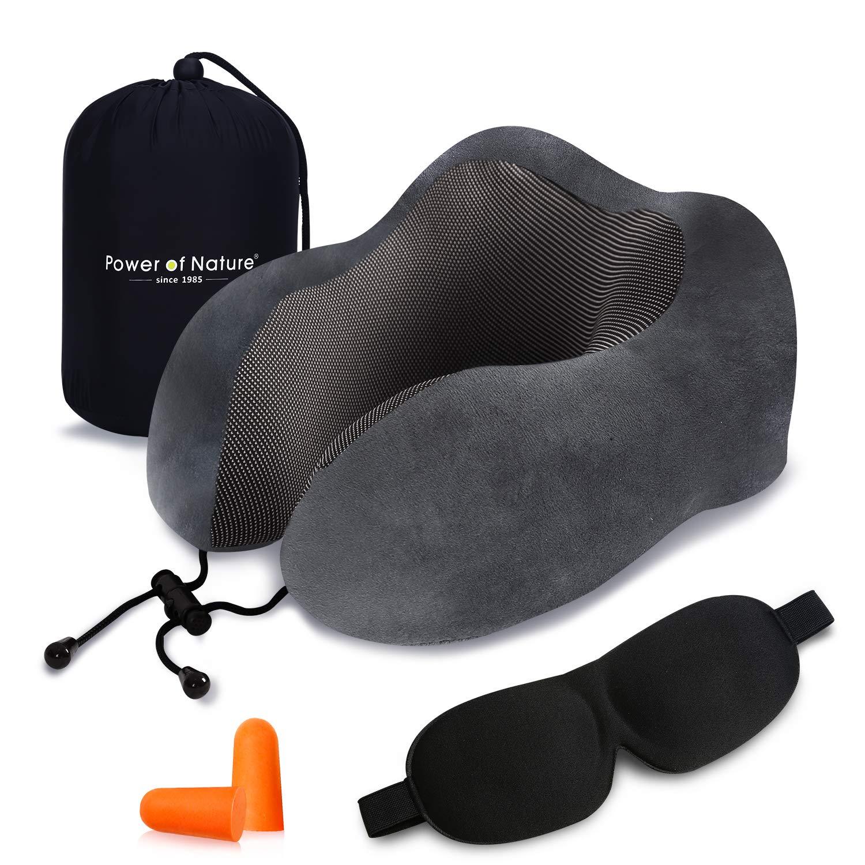38d17c1fbd Cuscino da Viaggio Memory Foam - Cuscino per Il Collo a Forma di U con  Supporto