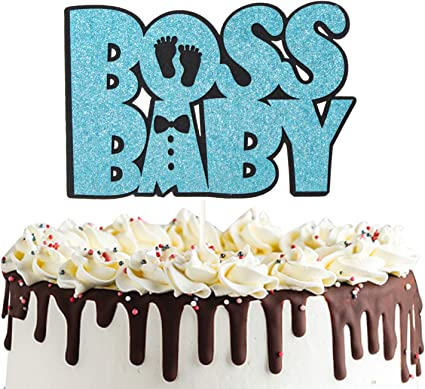 7 Pcs Boss Baby Boy Cake Toppers Baby Shower Baby Theme Party Cake Toppers(BOSS5