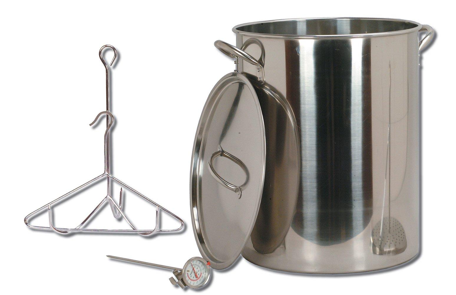 King Kooker 30-Quart Stainless Steel Turkey Pot Package by King Kooker