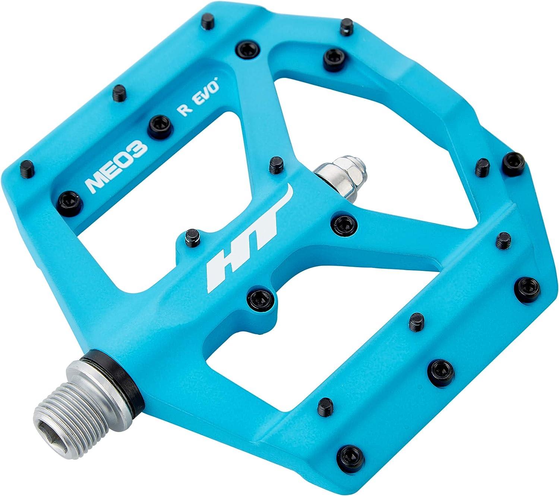 HT Pedals ME03 Evo platform pedals matte blue CrMo