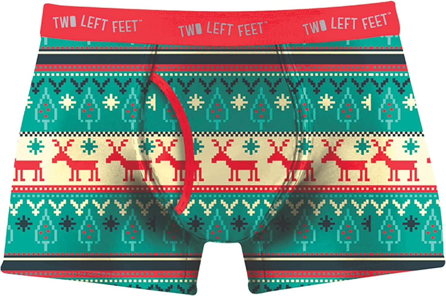 Two Left Feet Unisex-Adults Mens Trunk Underwear  Reindeer Xing  Extra Large
