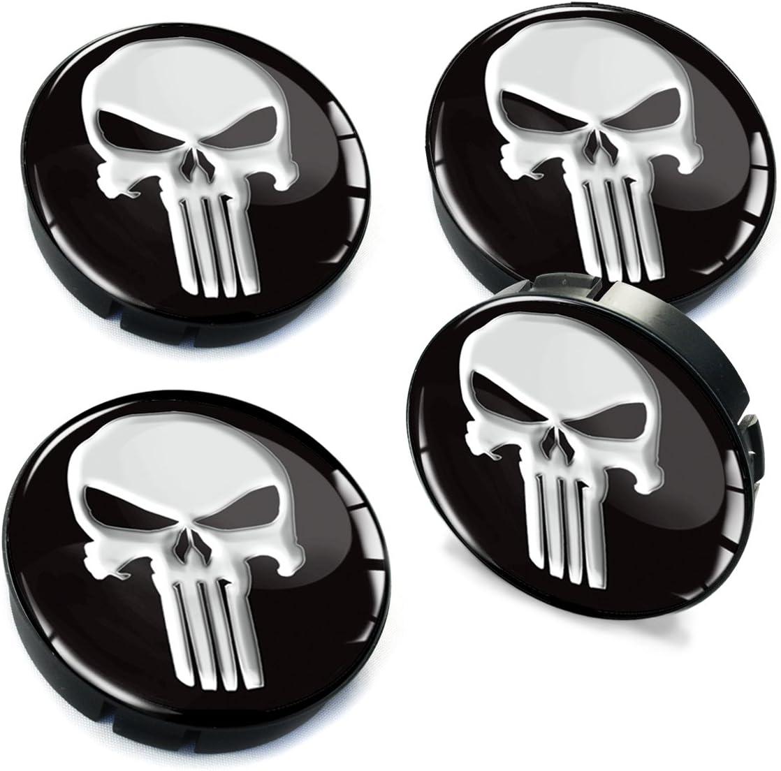Skinoeu 4 X 60mm Silikon Nabenkappen Kappen Punisher Totenkopf Totenschädel Skull Felgendeckel Radkappen Radnabendeckel Nabendeckel Auto Tuning C 1 Auto
