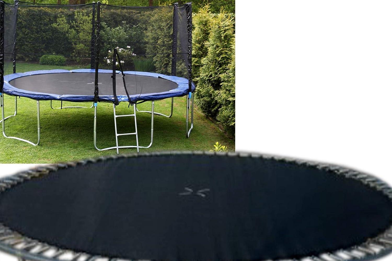Linder - Solingen Sprungtuch für 500 cm Trampolin schwarz 16 FT mit 108 Ösen S