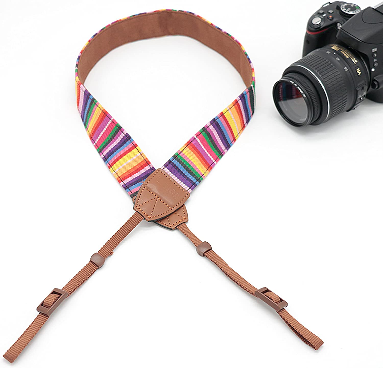Classic Design Compatible with Canon Fujifilm Nikon Olympus Panasonic Pentax Sony Cameras NO7 Camera Shoulder Belt Strap Vintage Weave Camera Neck Strap