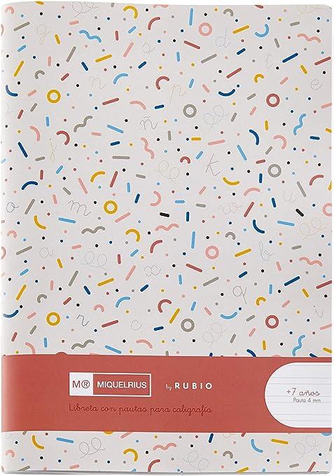 Miquelrius cuaderno con grapa By Rubio formato 4º Pauta Doble 4 mm: Amazon.es: Oficina y papelería