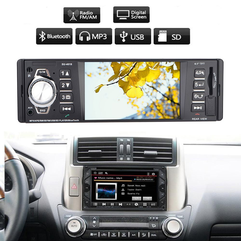 Bedee 4,1 Zoll HD Stereo Autoradio MP5 Player mit Bluetooth ...