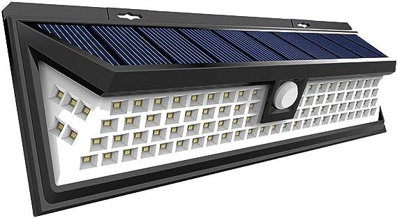 aplique solar detector movimiento lampara exterior placa solar aplique solar escalera panel solar portatil aplique solar pared exterior aplique solar exterior led lamparas de patio: Amazon.es: Iluminación