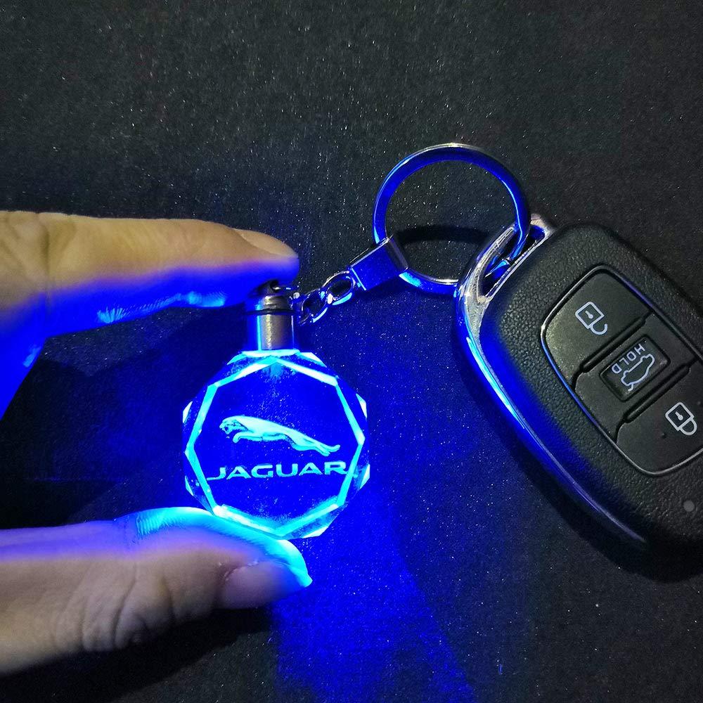 VILLSION 7 Couleurs Changeantes Voiture Honda Porte-cl/és avec Logo LED Lumi/ère Porte-cl/és Accessoires