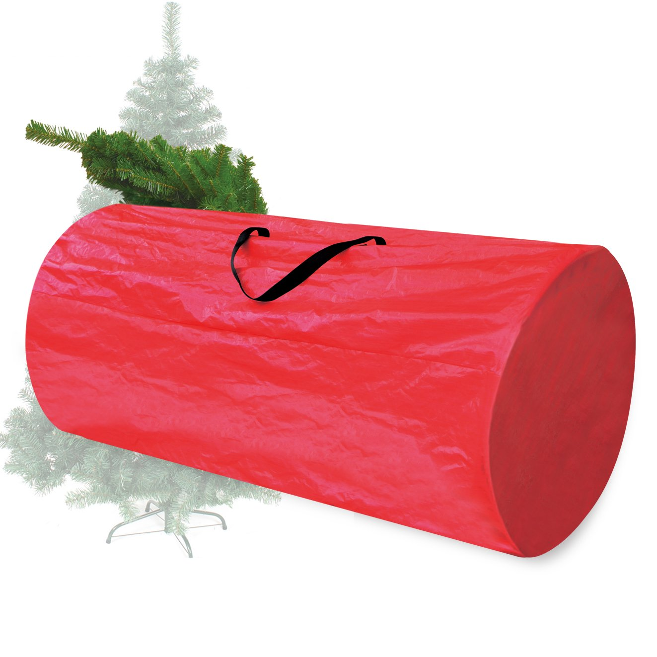 BenefitUSA Heavy Duty Large Artificial Christmas Tree Carry Storage Bag Holiday Clean Up to 8' (Red) sunny outdoor inc ZH0065-Red