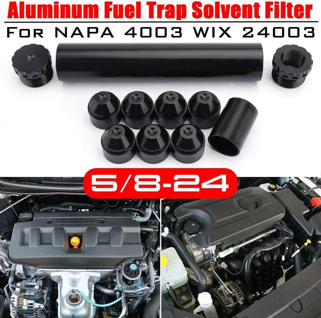 Gwxevce 1//2-28 5//8-24 Trappola Filtro Alluminio//Filtro solvente Tuta per Napa 4003 WIX 24003 qt4001 Argento//Nero//Rosso//Blu Argento