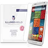 iLLumiShield - Motorola Moto X Screen Protector (2014) (2nd Generation) with Lifetime Replacement Warranty - Japanese Ultra Clear HD Film with Anti-Bubble and Anti-Fingerprint - High Quality (Invisible) LCD Shield - [3-Pack] OEM / Retail Packaging