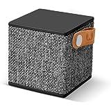 Fresh 'n Rebel Speaker  Rockbox Cube Fabriq Edition, Altoparlante Bluetooth Portatile 3W, Mini Cassa senza Fili in Tessuto, Vivavoce Integrato, Compatibilità Smartphone/Tablet/Laptop e MP3, concrete, Nero Antracite