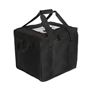39L Insulated Food Delivery Bag for Transport Hot Food -Foldable Reusable Heavy Duty Food Warmer Grocery Bag for Camping Catering Restaurants