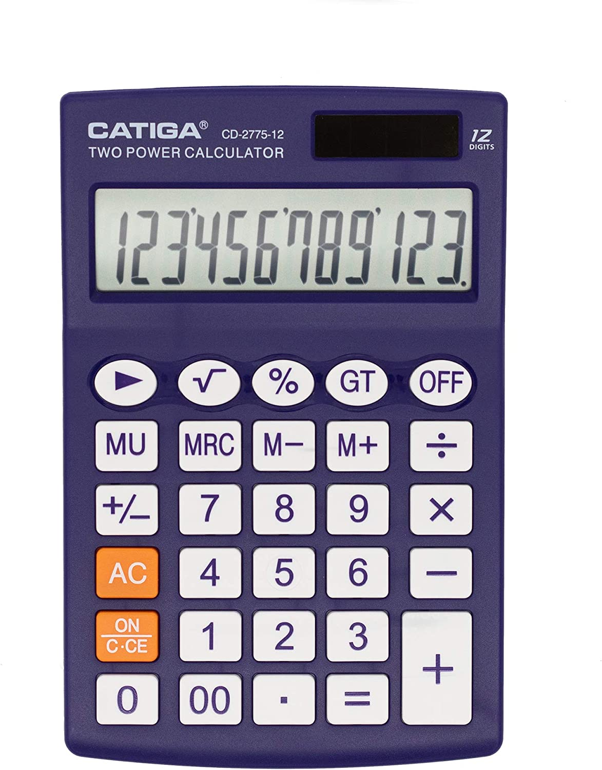 Desktop Calculator with 12 Digit LCD Display Screen, Home or Office Use, Easy to use with Clear Display/Memory Functions, CD-2775 (Purple)