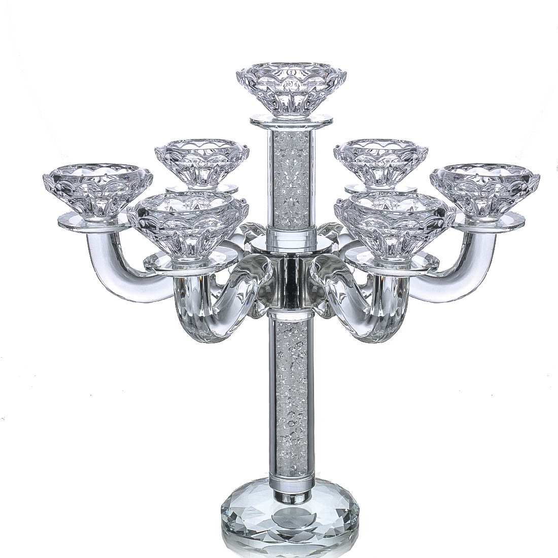 3a7cb332f Amazon.com  Qf 7-Arm Crystal Candelabra-Classic Elegant Design  Home    Kitchen