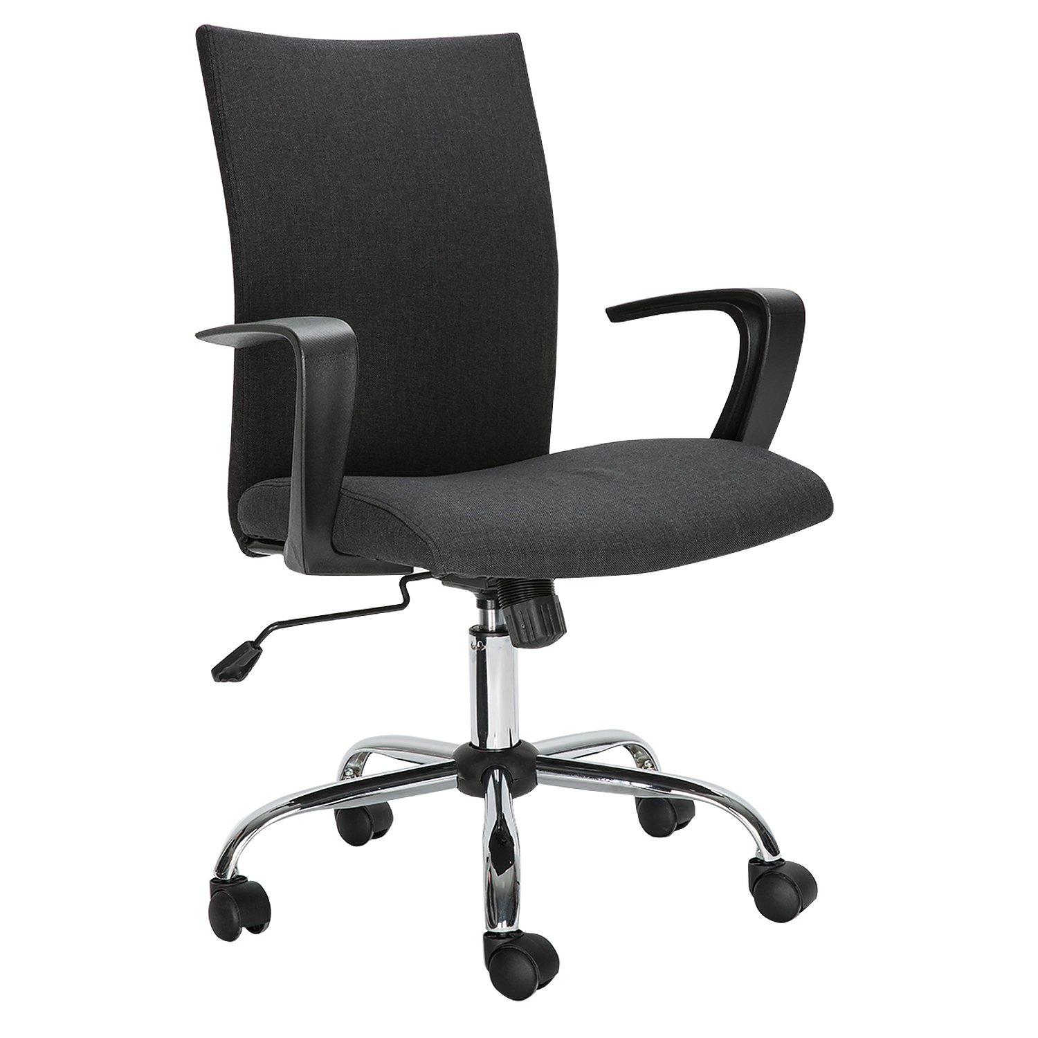 HollyHOME Computer Desk Chair, Comfort Fabric Swivel Home Office Task Chair with Arms and Adjustable Height, Suitable For Computer Working and Meeting