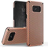 Zizo Echo Series Compatible with Samsung Galaxy S8 Plus Case Dual Layered TPU and PC with Anti-Slip Grip Rose Gold Black