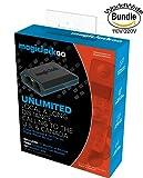 MagicJack Go Digital Phone Service with USA - International WorldWide Dual Voltage 110V-220V Wall Plug Adapter & ZONOZ International Two-Prong Round Pin Plug Adapter (Bundle)