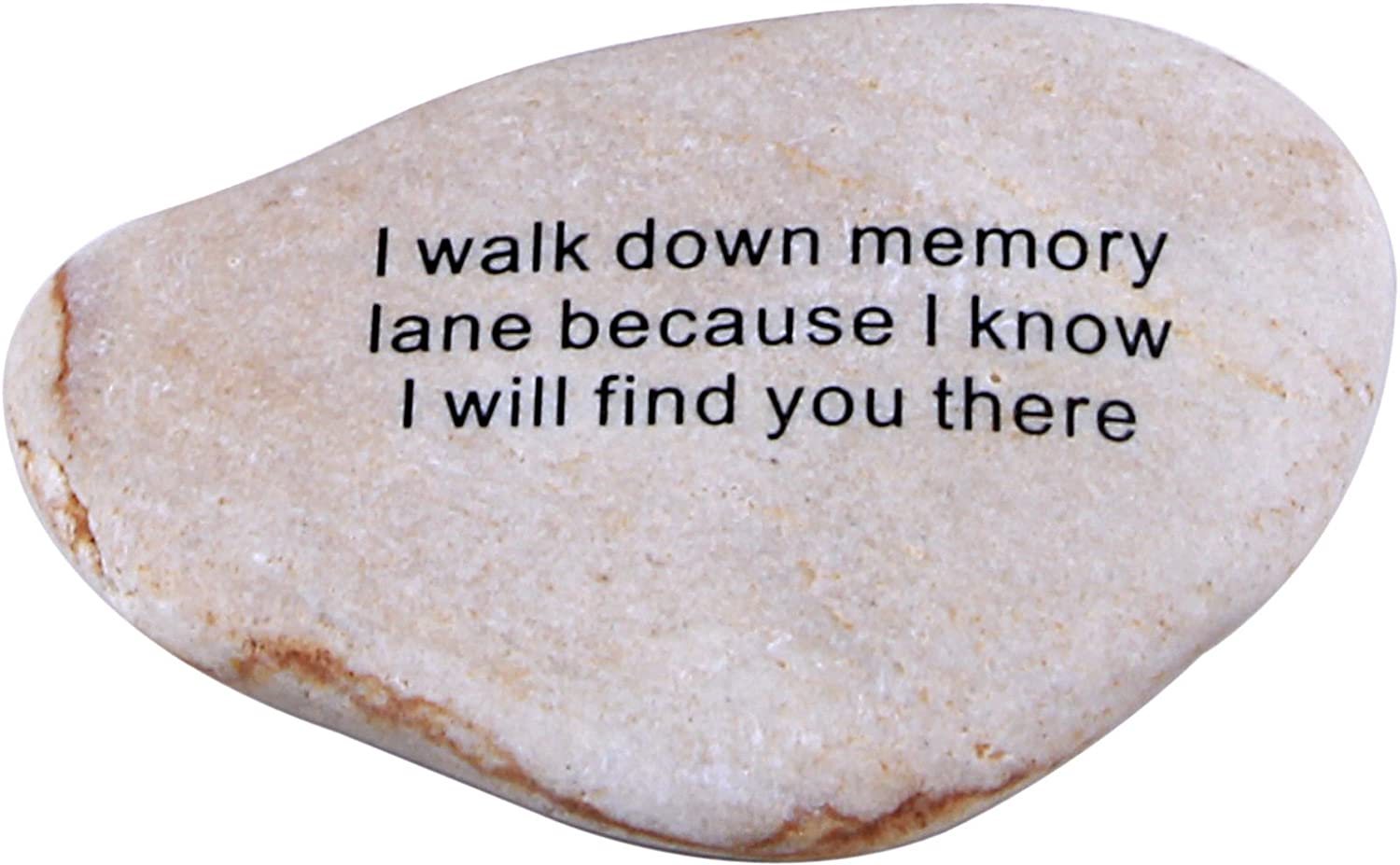 Holy Land Market - I Walk Down Memory Extra Large Engraved Natural Stones from The Holy Land : 4-5 Inches