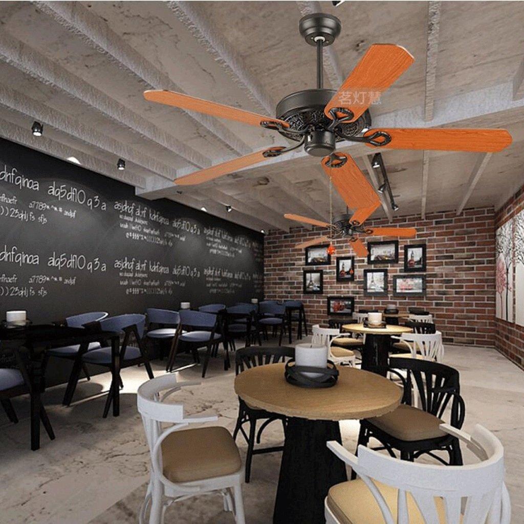 Ventilatore a soffitto senza lampada ristorante semplice nero retr/ò ventilatore a vento industriale ventilatore a soffitto in ferro soggiorno ventilatore a soffitto villaggio americano