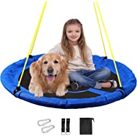 """RedSwing Saucer Tree Swing for Kids Indoor Outdoor, 40"""" Large Round Swing, 500 Lbs Weight Capacity, Great for Tree, Swing Set, Backyard, Playground, Easy to Install"""