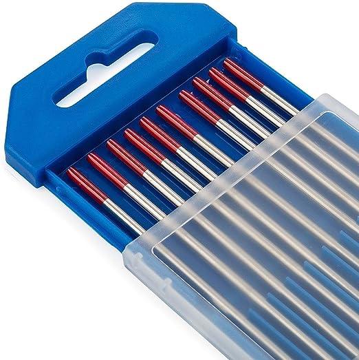 2,0 mm x 175 mm de 10 pi/èces par paquet 2/% de Lanthane TEN-HIGH /Électrodes en tungst/ène TIG Bleu WL20