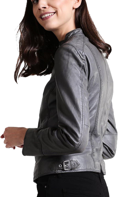 Koza Leathers Womens Lambskin Leather Biker Jacket KN231