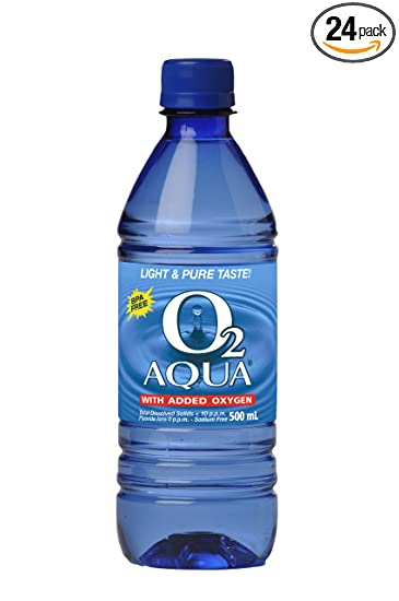 901feef380 Amazon.com : O2 Aqua Oxygenated Purified Water 500ml, (Pack of 24 ...