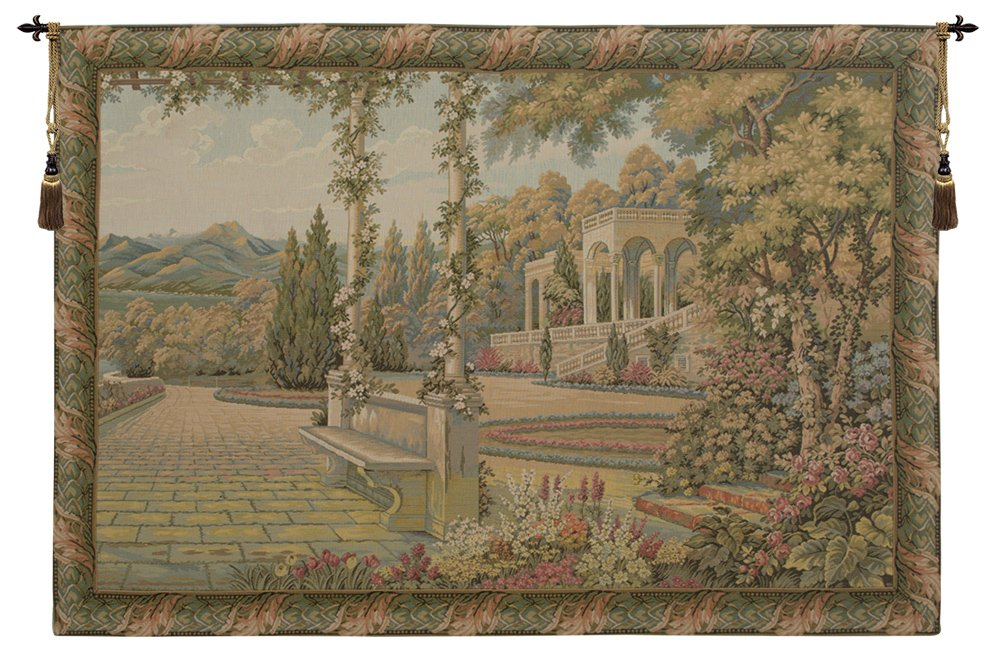 Lake Como Terrace Italian Tapestry