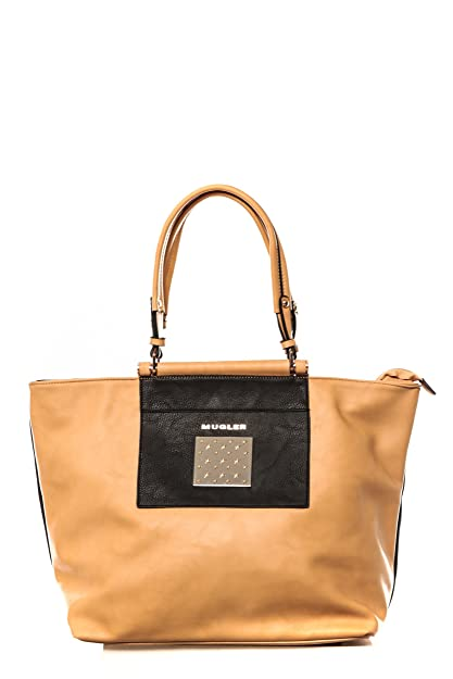 da8209d51fa Sac Thierry Mugler Impérial 3 Beige Noir  Amazon.co.uk  Shoes   Bags