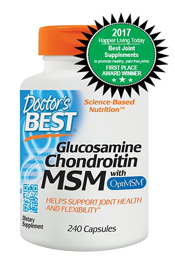 Doctors Best | MSM Glucosamina Condroitina con OptiMSM | 240 cápsulas vegetales | sin gluten y soya: Amazon.es: Salud y cuidado personal