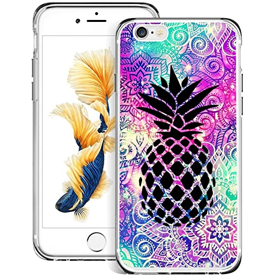 best sneakers fbd4b 8412b Amazon.com: Mandala Pineapple iPhone 6s Plus 6 Plus Case Clear, By ...