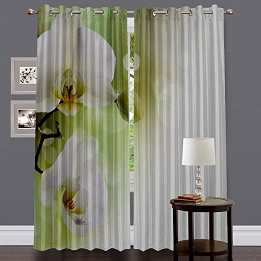 Amazon.com: Blackout Curtain Panels Window Draperies for Living Room Bedroom Kitchen, Insulating Room Darkening Grommet Window Treatments, ...