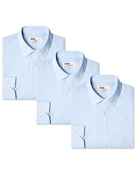 e3645e526e Hem & Seam Camicia Regular Fit Uomo, Pacco da 3: Amazon.it ...