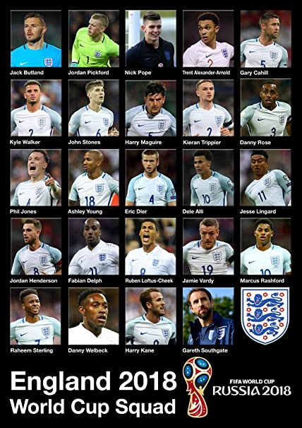 a4a2b1b9013 England World Cup Squad 2018 Poster A3   3 Jack Butland