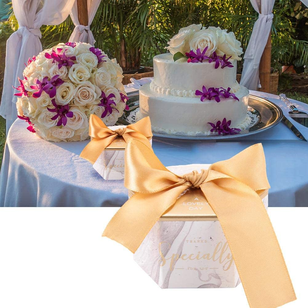 anniversaire bonbons No/ël Lot de 30 bo/îtes /à bonbons avec rubans en papier d/écoration de ruban rose obtention de dipl/ôme bo/îtes cadeau pour mariage f/ête pr/énatale