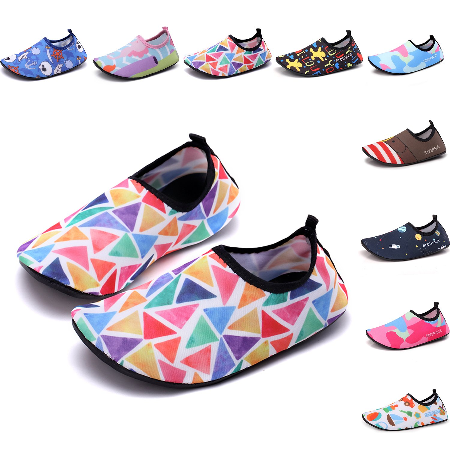 Sixspace Kids Water Shoes Swim Shoes Quick-Dry Barefoot Sock Shoes for Beack Swim Pool Yoga,Muiticolor 20//21