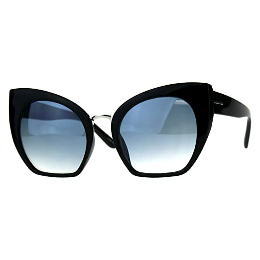 d947b436ea Womens Oversized Fashion Sunglasses Square Cateye Butterfly Frame UV 400  Black
