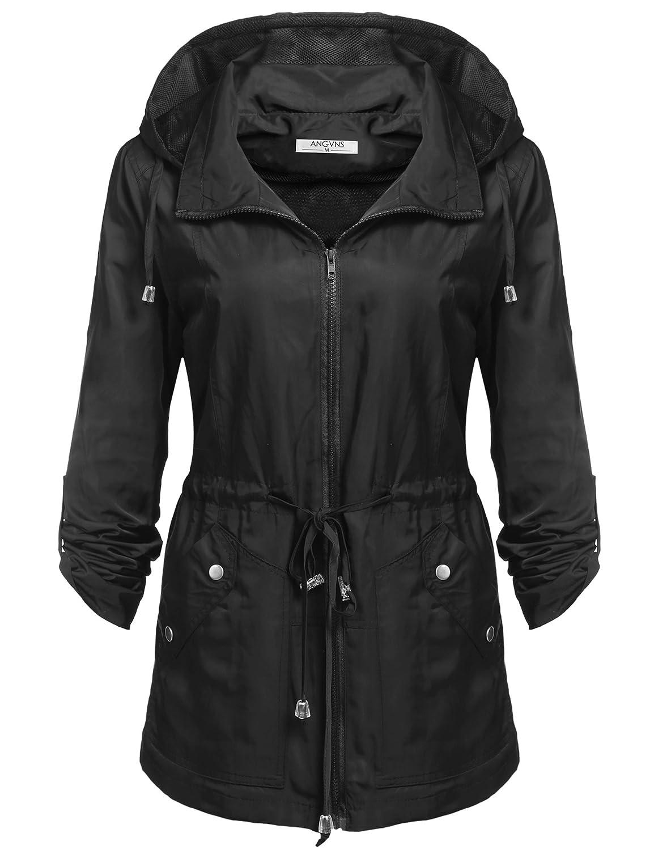 ANGVNS Waterproof & Breathable Women's Rain Jacket